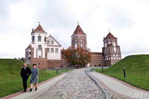 back side of the Mir Castle in Belarus