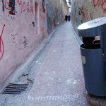 a litter bin in the stube ivana zakmardija in Zagreb Croatia