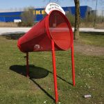 a bin where you can throw things from your car in Son en Breugel, the Netherlands