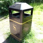 a litter bin where dog waster is accepted in Bramhall close to Manchester in the United Kingdom