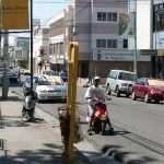 a litter bin in a street in Puerto Plata in the dominican republic