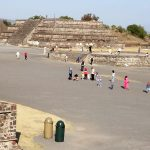 litter bins in the archeological site of the pyramids of Teotihuacan in Mexico