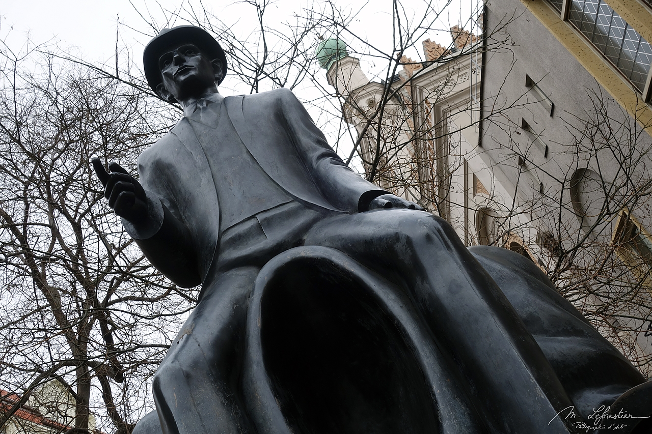 Czech Republic: check out the epic statue of Franz Kafka in Prague