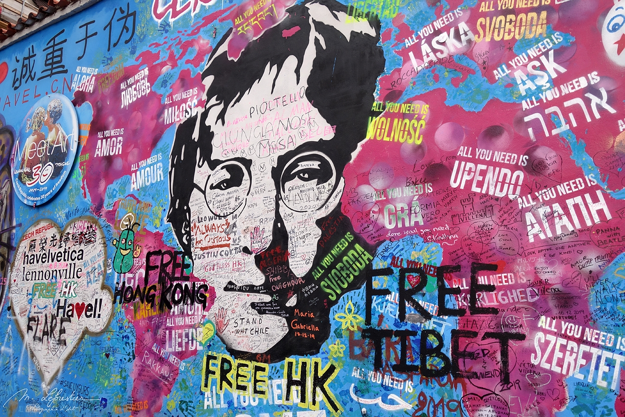 Czech Republic: see the Lennon Wall in Prague