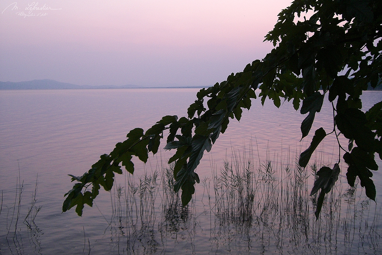 Greece: be amazed by the sunset on lake Trichonida