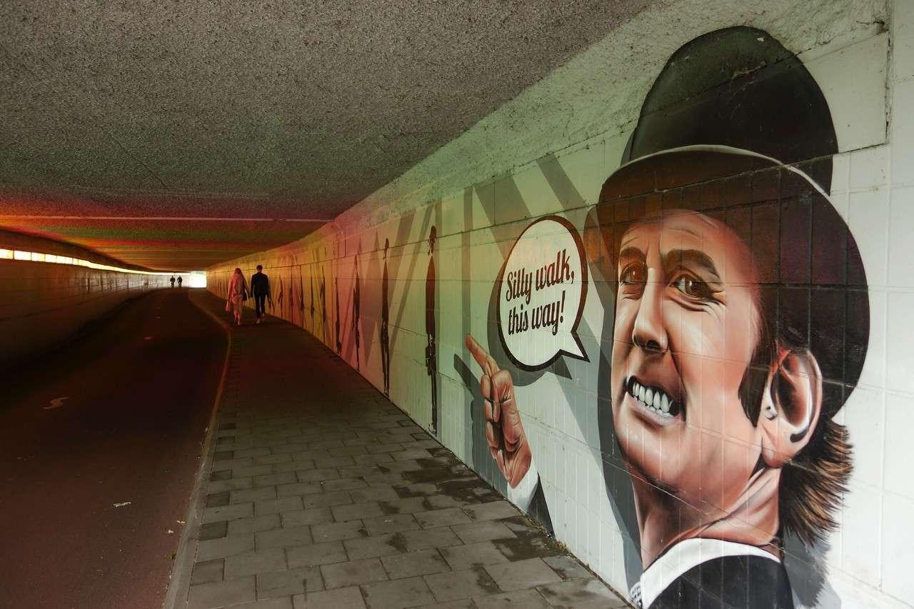 Netherlands: go through the silly walk tunnel in Eindhoven
