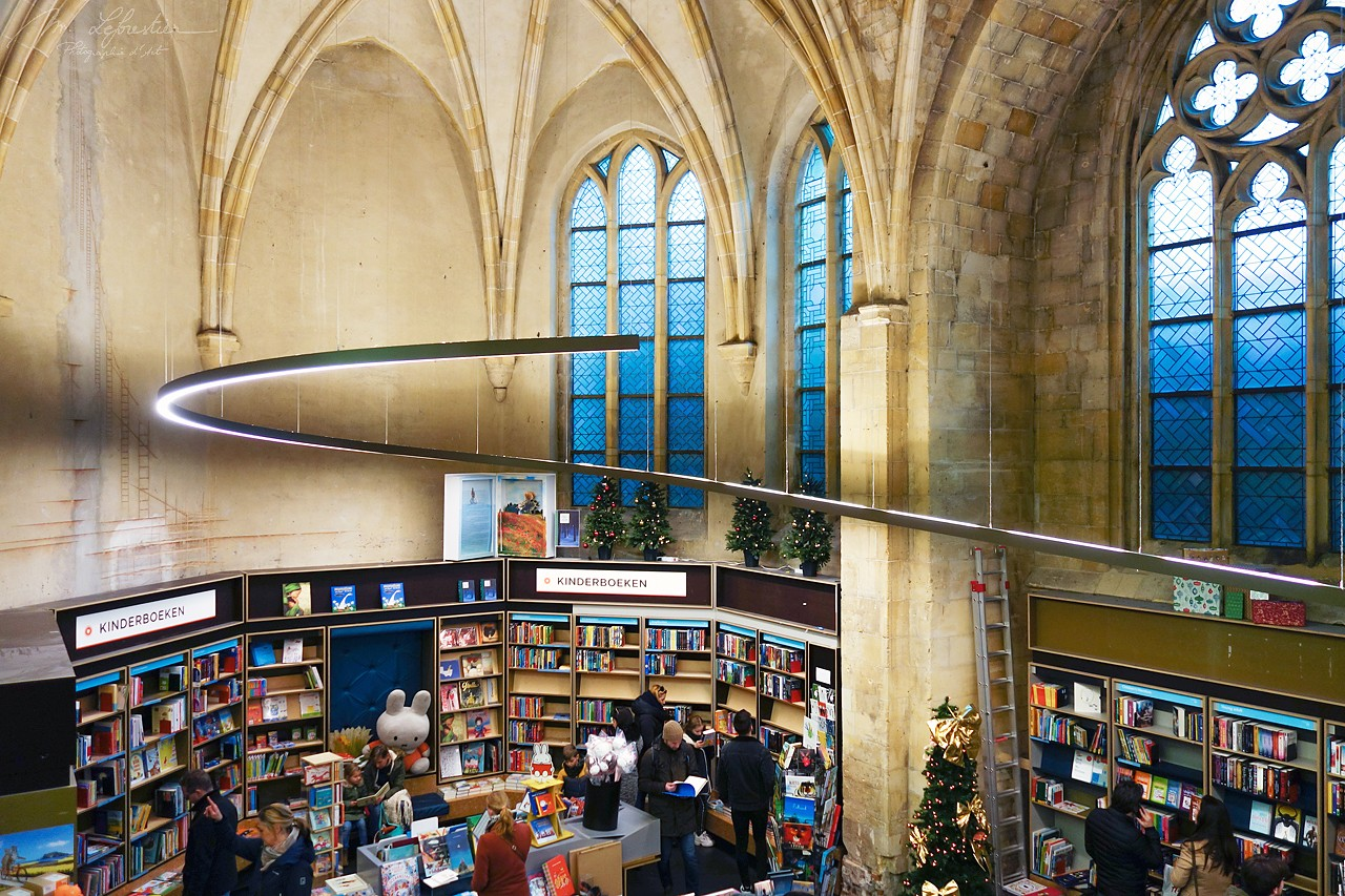 Netherlands: see this old church converted into a bookstore in Maastricht